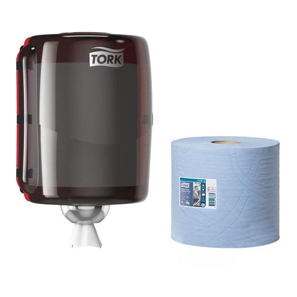 pachet-dispenser-si-rola-hartie-industriala-albastra-tork