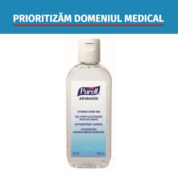 Dezinfectant maini gel Gojo Purell Advanced flacon 100 ml
