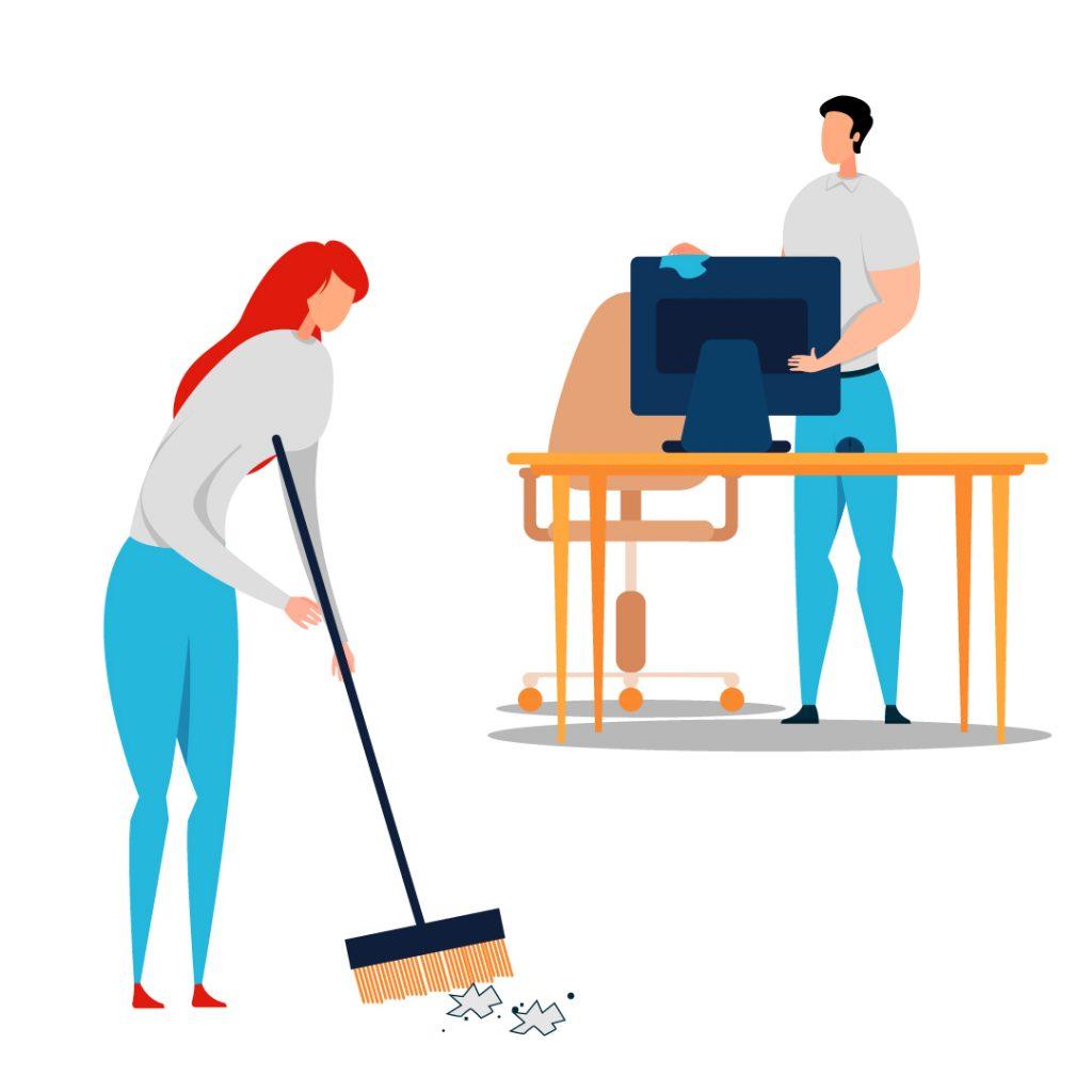 curatarea, igienizarea si dezinfectarea mediului de lucru