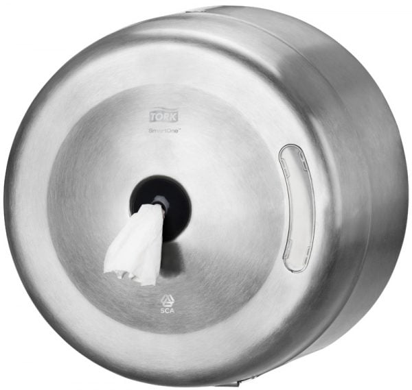 Dispenser hartie igienica Tork Smartone T8, fabricat din metal
