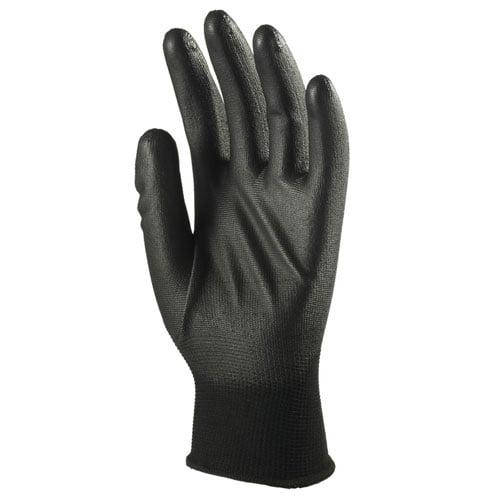Manusi negre de protectie cu imersie poliuretan(PU) pe palma