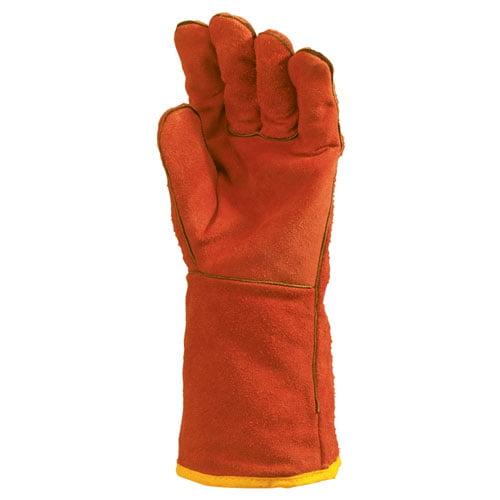 Manusi pentru sudura, din piele spalt culoare rosie, marimea 10 - Coverguard