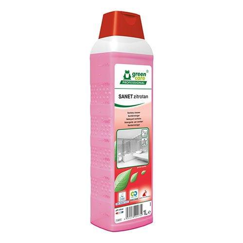 Detergent ecologic concentrat SANET zitrotan, pentru spatii sanitare cu miros persistent, 1l-712473