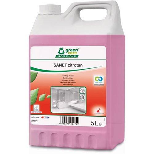 Detergent ecologic concentrat SANET zitrotan, pentru spatii sanitare cu miros persistent, 5l-712474