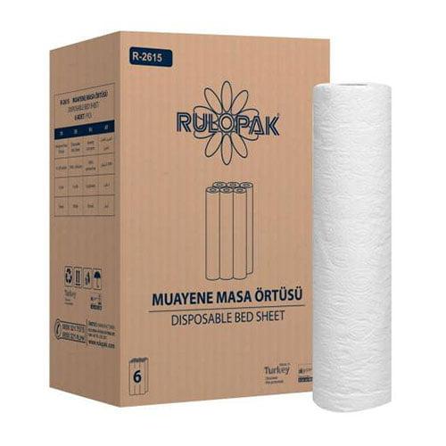 Rola cearcearf medical de examinare din hartie R2615, 2 straturi, 50m x 50 cm, 6 role/bax