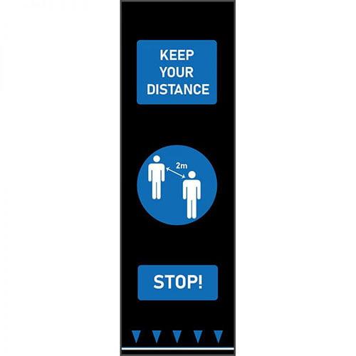 Covor Coba din cauciuc SDM030001- distantare sociala vizuala cu oameni, albastru