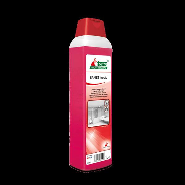 Detergent concentrat SANET ivecid, pentru spatii sanitare, cu miros persistent, 1l-712941