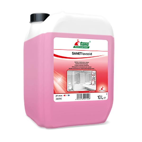 Detergent concentrat SANET lavocid, pentru spatii sanitare, efect puternic de curatare,10l-404794