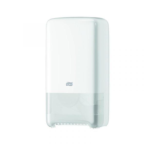 Dispenser hartie igienica 2 role Tork Twin 557500 T6, alb