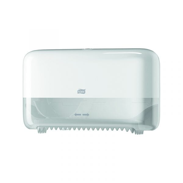 Dispenser hartie igienica rola medie dublu Tork 558040 T7 alb