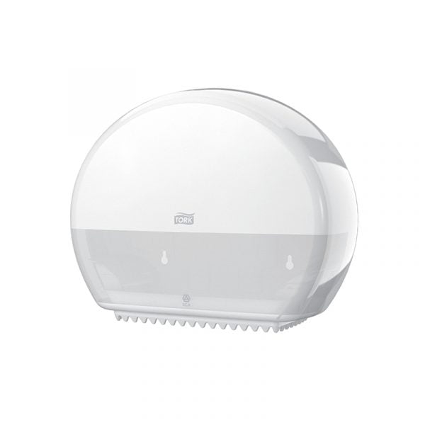 Dispenser hartie igienica Tork mini jumbo 555000 T2, alb
