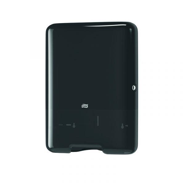 Dispenser mare prosoape de hartie V fold Tork 553008 H3, negru