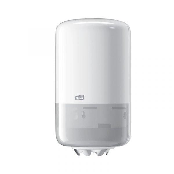 Dispenser prosoape de hartie cu derulare centrala Tork Mini 558000 M1 alb