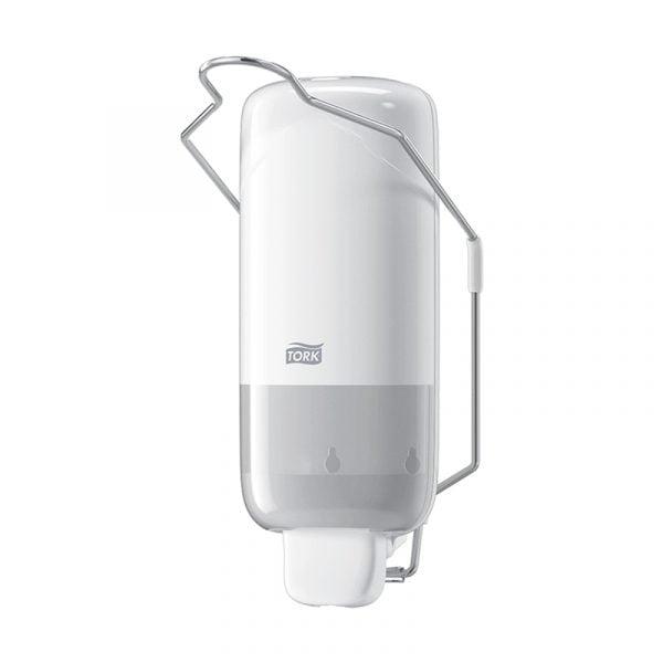 Dispenser sapun lichid actionare cu brat Tork 560100 S1, alb, 1L