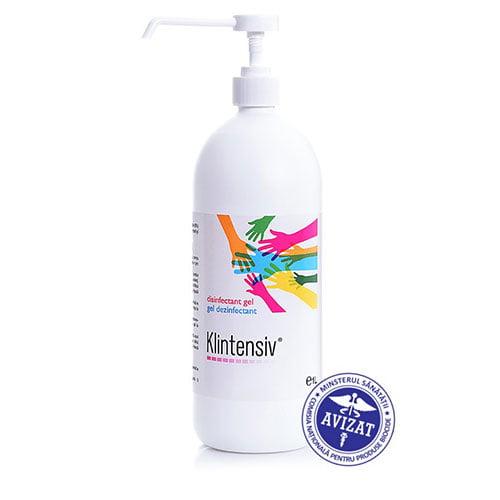 Gel dezinfectant maini Klintensiv Kli26  antibacterian virucid 85% alcool,1000m