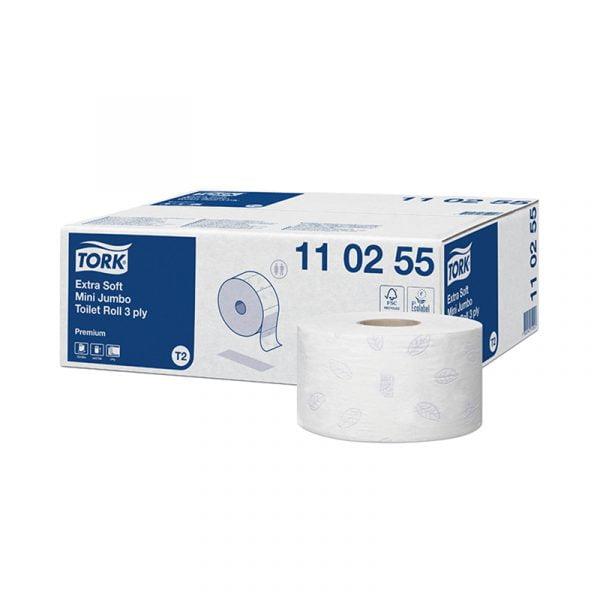 Hartie igienica rola Tork 110255 extra fina T2, 3 straturi, 120 m/rola