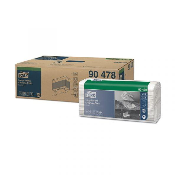 Lavete profesionale pentru curatare Tork 90478 W4, albe, 90 buc/pachet