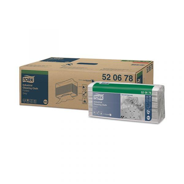 Lavete  industriale Tork 520678 W4, gri, 120 buc/pachet