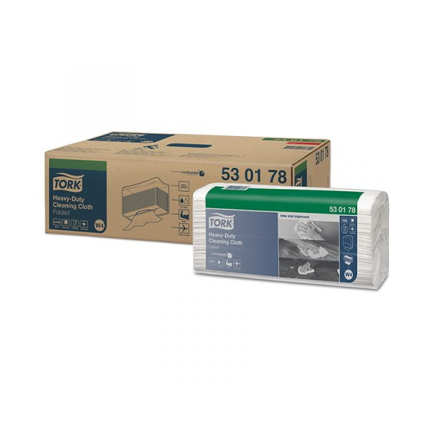 Lavete industriale ultra-rezistente Tork 530178 W4, albe, 100 buc/pachet