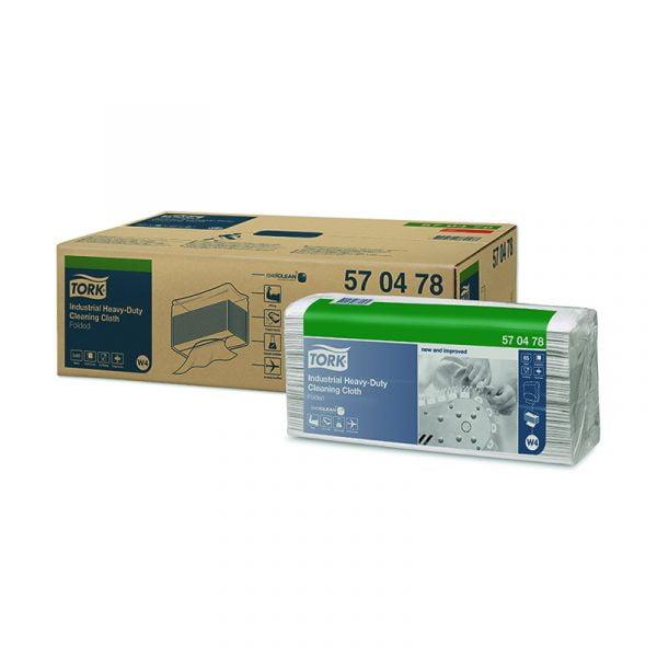 Lavete industriale industriale ultra-rezistente Tork 570478 W4, albe, 65 buc/pachet