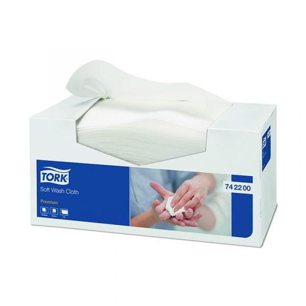 Lavete  premium Tork 742200, albe, 135 buc/pachet