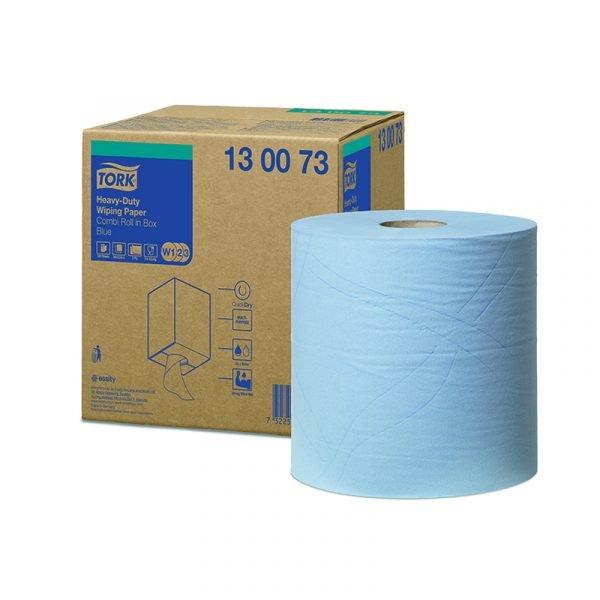 Rola lavete industriale ultra-rezistente Tork 130073 W2, albastre, 170m/rola
