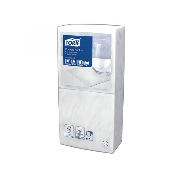Servetele de masa Tork 477534, albe, 2 straturi, 200 buc/pachet