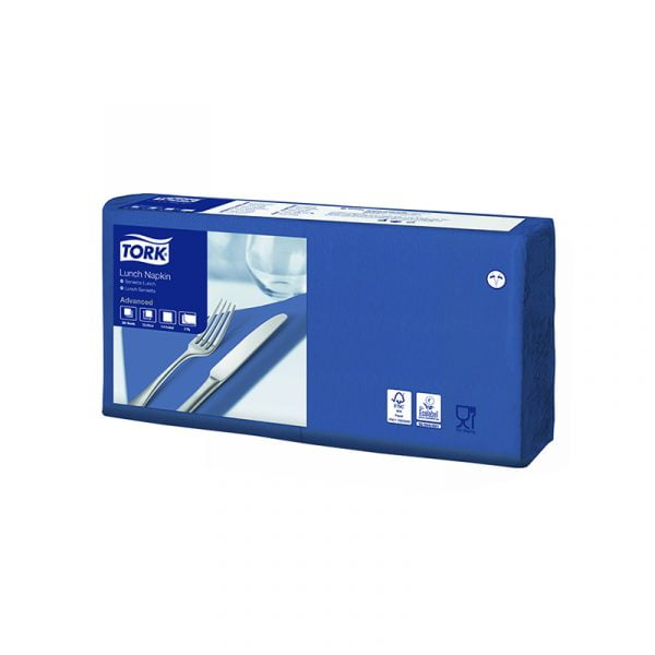 Servetele de masa Tork 477215 albastru inchis, 2 straturi, 200 buc/pachet