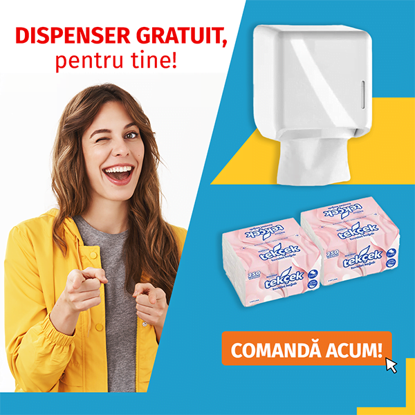 Dozator hartie igienica GRATUIT + 2 baxuri hartie igienica intercalata bulk