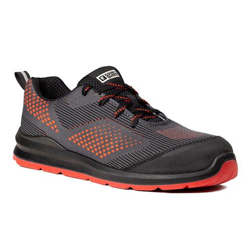 Pantofi protectie S1P SRC MILERITE gri/rosu-bombeu metalic