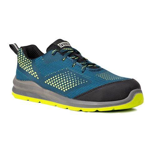 Pantofi protectie S1P SRC MILERITE verde/galben-bombeu metalic