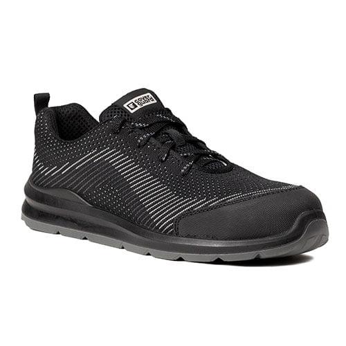 Pantofi protectie S1P SRC MILERITE negru-bombeu metalic