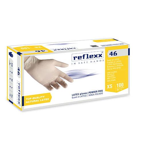 Manusi latex nepudat de unica folosinta R46 , 0.09 microni grosime, 100/cutie