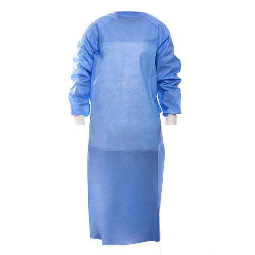 Halat chirurgical ranforsat non steril, albastru