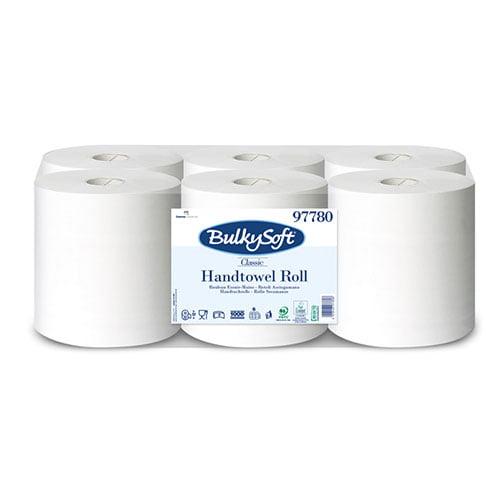 Rola autocut Bulkysoft Classic, celuloza 100%, alba, 250 m, 2 straturi, 6 role/bax
