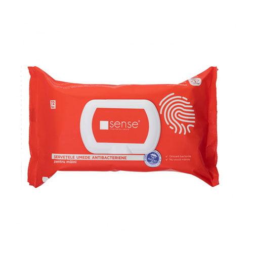 Servetele umede dezinfectante pentru maini 72 bucati/pachet