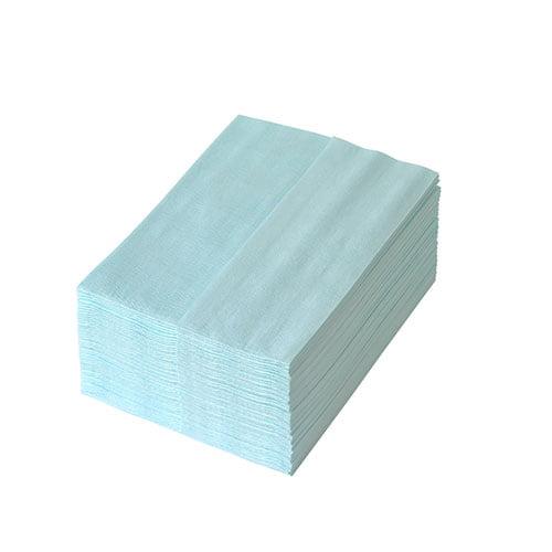 Lavete Profix Escon Crêpé, amestec de celuloza cu poliester, 1 strat, turcoaz, pliate dimensiune: 38*30 cm, 50 portii/pachet