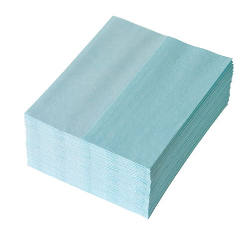 Lavete Profix Escon Print, amestec fibre de celuloza cu poliester,1 strat,turcoaz, dimensiune: 30*38 cm, 50 portii/pachet