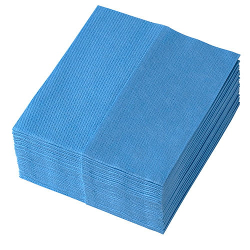 Lavete Profix, disponibile pe coduri de culori, amestec de vascoza cu PET, pliate Z, albastre, dimensiune:36*32 cm, 32 portii/pachet
