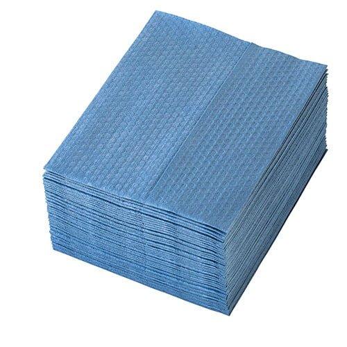 Lavete  speciala Profix® Alpha Blue, amestec fibre celuloza cu poliester, pliate Z, albastre, dimensiune: 29*36 cm, 50 portii/pachet