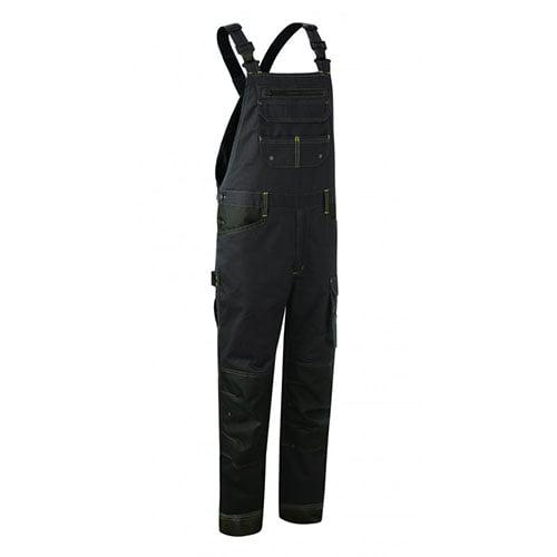 Pantaloni cu pieptar BARVA antracit , tercot