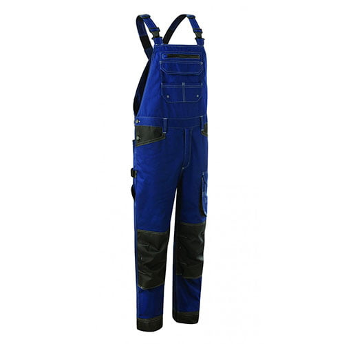 Pantaloni cu pieptar BARVA blue, tercot