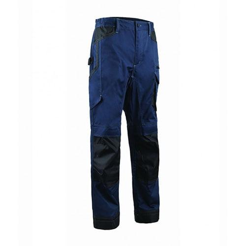 Pantaloni talie BARVA , albastru inchis, tercot