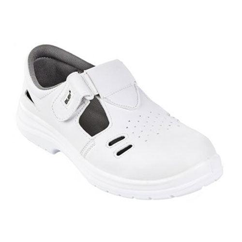Sandale albe BUBI O1,  fara bombeu